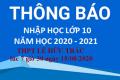 Thông báo nhập học lớp 10 THPT Lê Hữu Trác