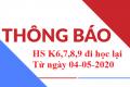 Thông báo học sinh trở lại trường ngày 04-05-2020