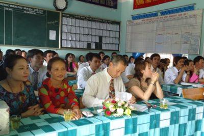 Trường THCS Phan Đình Phùng tổ chức Hội nghị CC-VC năm học 2012-2013